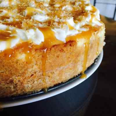 Caramel Coconut Cheesecake