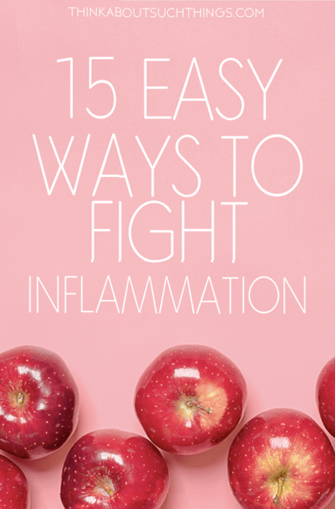 Ready to fight inflammation? It's not as hard as you think. Check out these 15 easy ways to kick inflammation in the face! #health #inflammation #naturalhealth