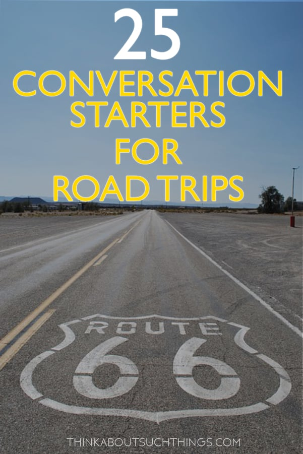 Conversation starters for road trips