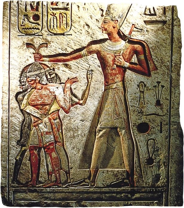 propaganda - Ramses II limestone relief, Memphis, Egypt