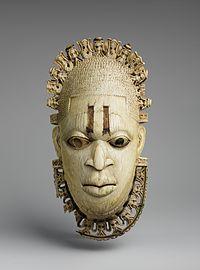 benin - ivory mask