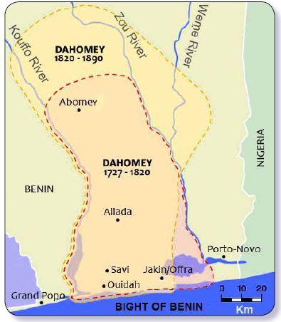 dahomey 1727 - 1890
