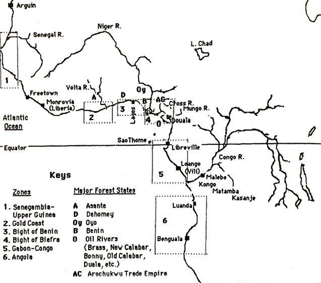 dahomey - major west african trade centres