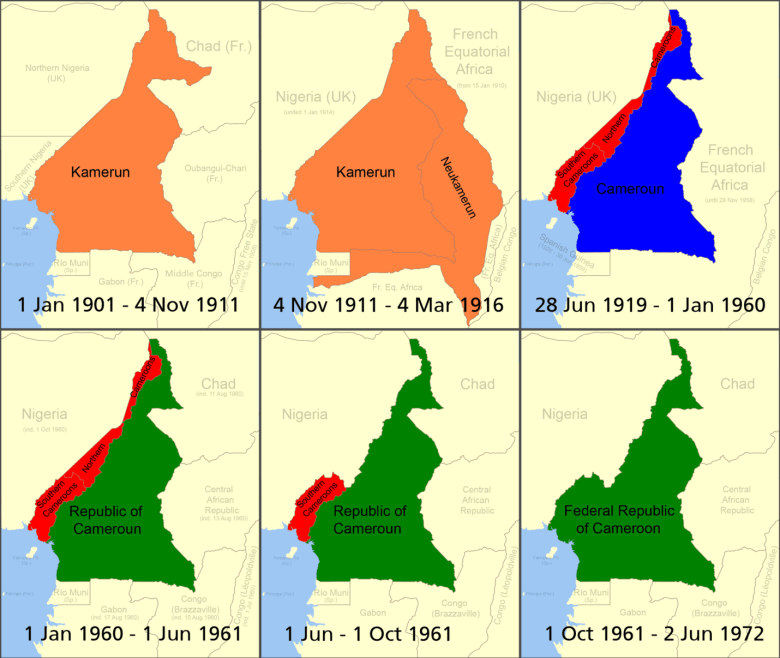 german west africa schutztruppe - transition to Cameroon