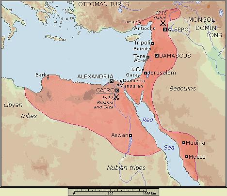mamluk map 1250-1517