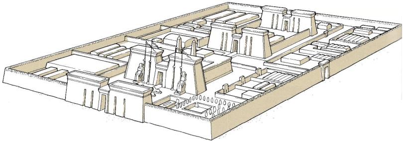 temple of Sais (Sa el-Hagar) - reconstruction of the great