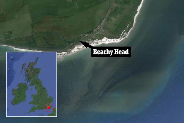Beachy Head is a chalk headland in Southern England, close to the town of Eastbourne