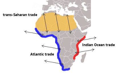 atlantic slave trade and other trade routes
