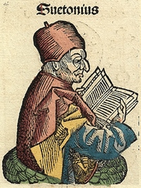 A generalized representation of Suetonius from the 15th-century Nuremberg Chronicle[1]