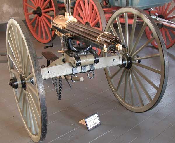 colonization of africa - Gatling gun