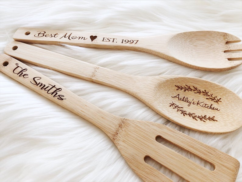 Personalized Wooden Spoon Mother's Day Gift Grandma image 0