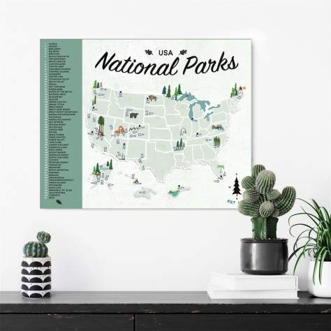 National Parks Map | Mark Your Travels