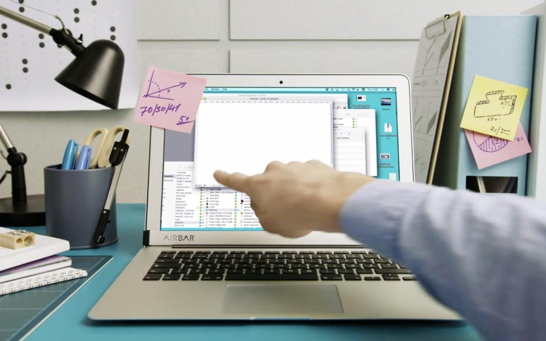 Un gadget para convertir a tu Macbook en touchscreen - airbar-dla-macbook-air