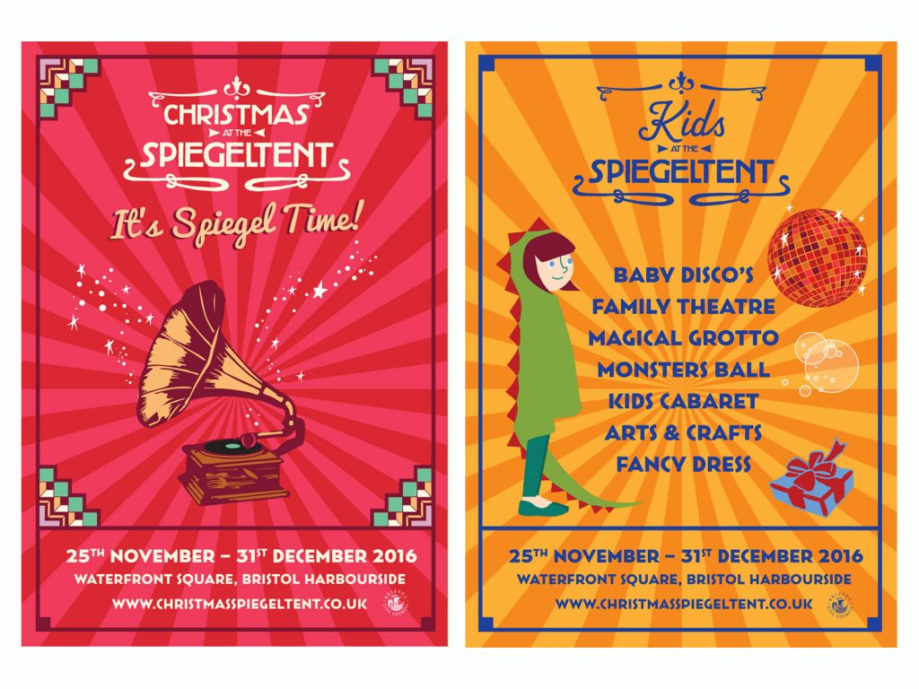 Christmas at the Spiegeltent Identity design