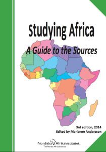 Studying Africa_A Guide to the Sources