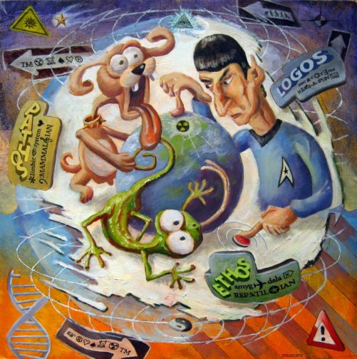 A Lizard, a Dog, and Mr. Spock Deciding the World's Fate