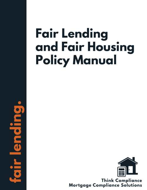 Fair Lending Policy Manual