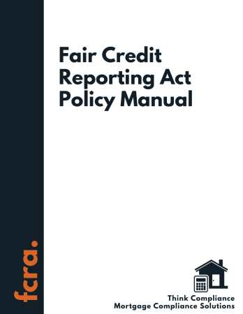 Fair Credit Reporting Act Policy Manual