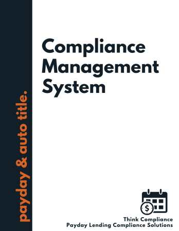 payday loan compliance manual