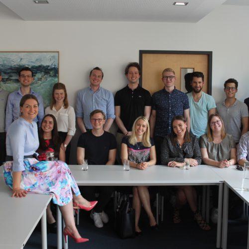 Besuch unserer THINK DIGITAL Stipendiaten bei Frau Gerlach im Digitalministerium