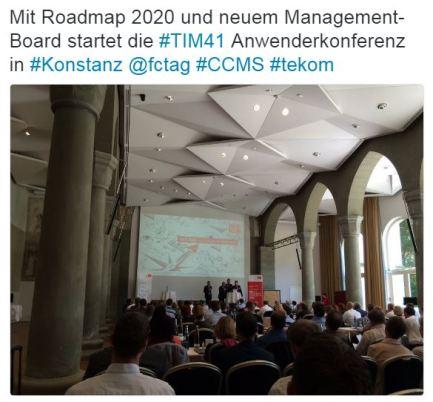 Mit Roadmap202 und neuem Management-Board startet die TIM4.1 Anwenderkonferenz