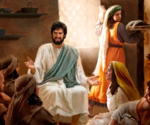 Mary Sits at Jesus' Feet —