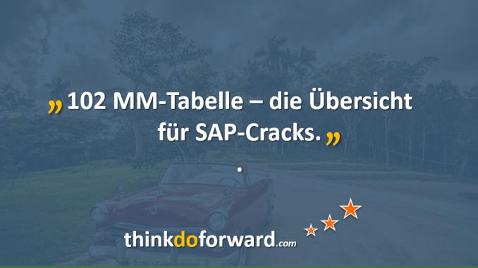 102 MM-Tabellen – die Übersicht für SAP-Cracks – Für SAP-Berater