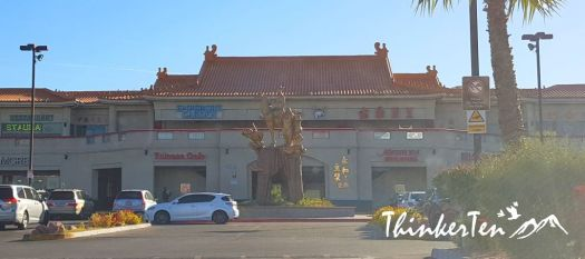 Journey to the west statue at Chinatown Las Vegas
