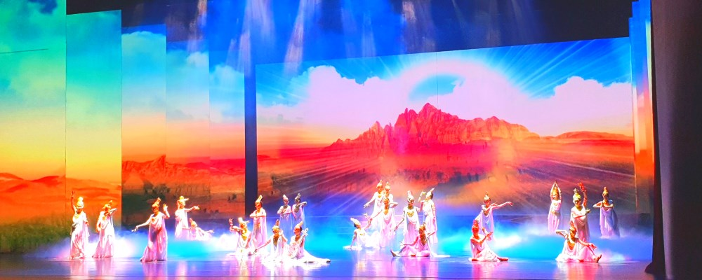 Silk Road China : Legend of Dunhuang Show -  'Silk Road, Flower Rain'  丝路花雨