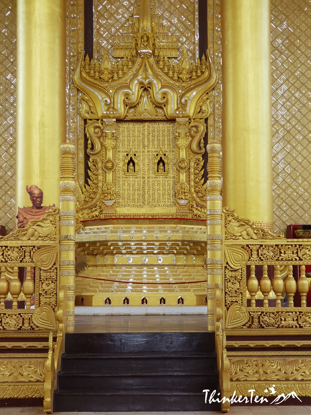 Myanmar : The Golden Palace in Bago - Kanbawzathadi Palace