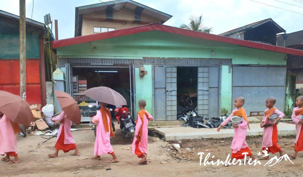 Myanmar Bago : Mya Tha Lyaung Reclining Buddha - Outdoor