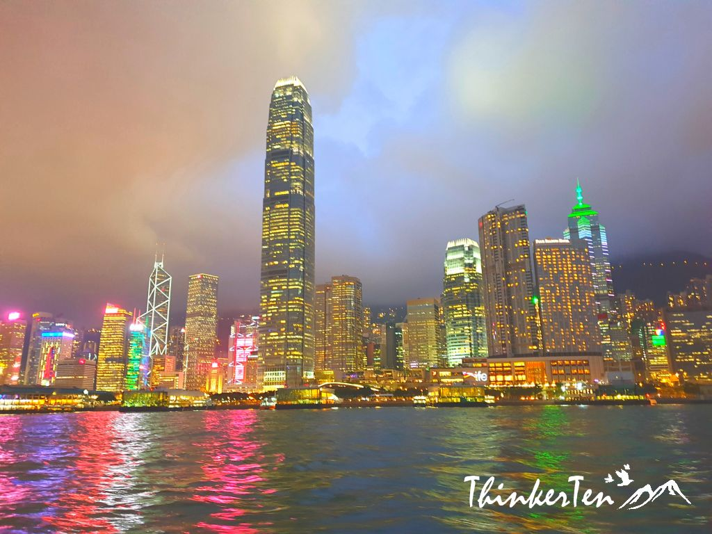 Victoria Harbour Hong Kong in the Golden Hour!