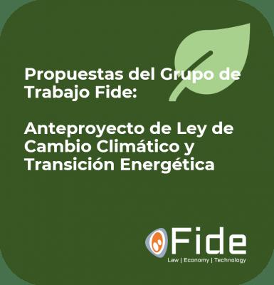 Vorschläge der Fide-Arbeitsgruppe Klimawandel und Energiewende
