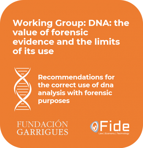 report working group fide and garrigues foundation Recommendations for the correct use of dna analysis with forensic purposes