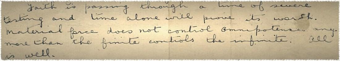 Letter- Faith pullout