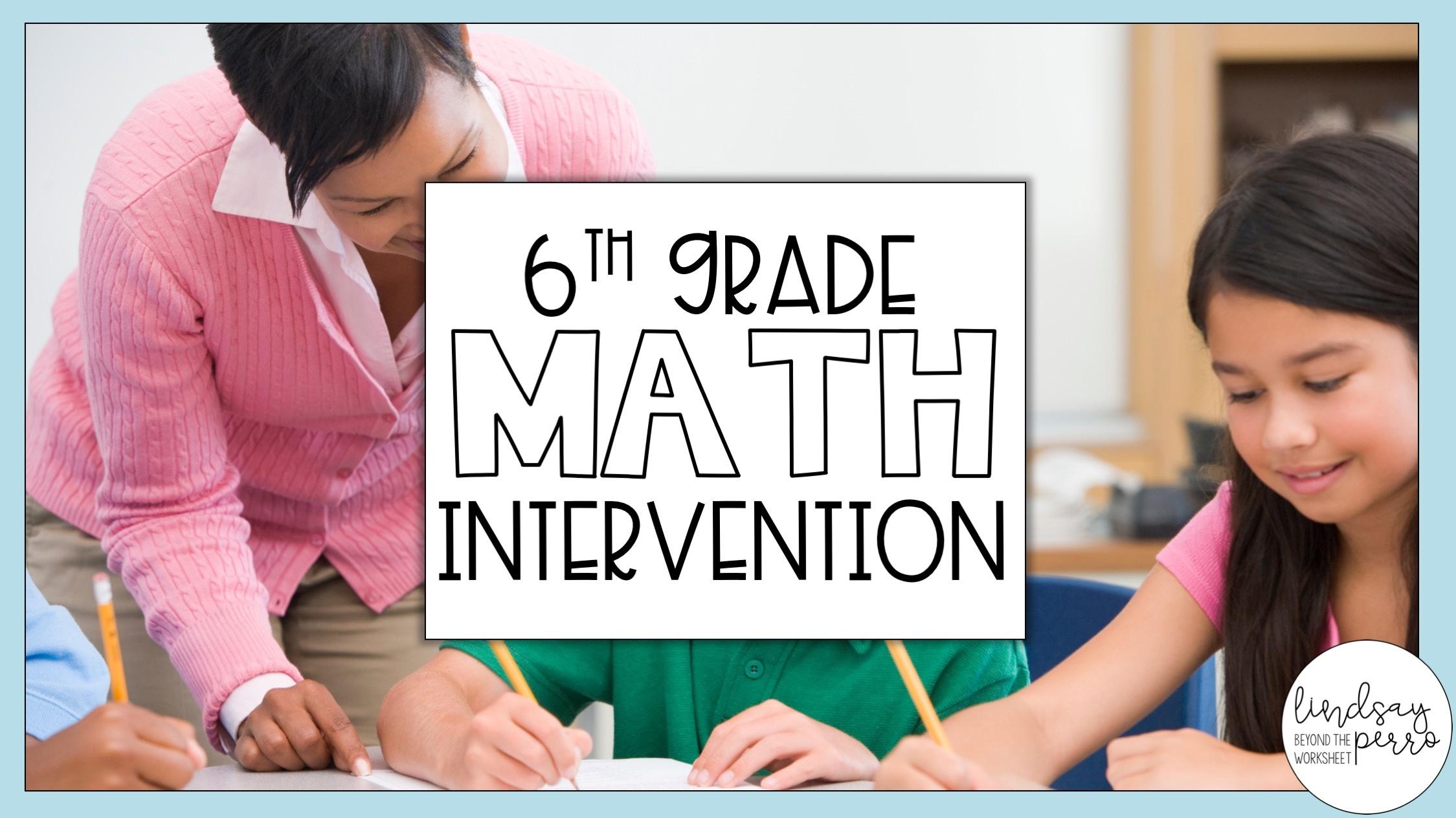 6th Grade Math Intervention