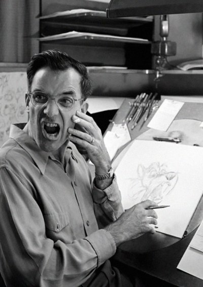 Disney Animators often use mirrors to model for themselves as they draw their characters' facial expressions.