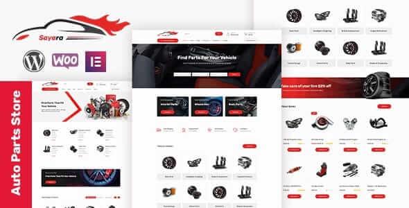 Sayara 109 Auto Parts Store WooCommerce WordPress Theme