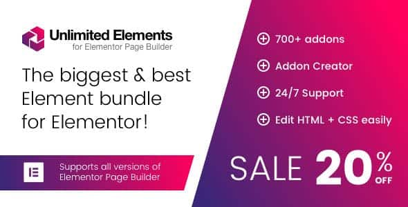 Unlimited Elements for Elementor Premium 1443 Nulled