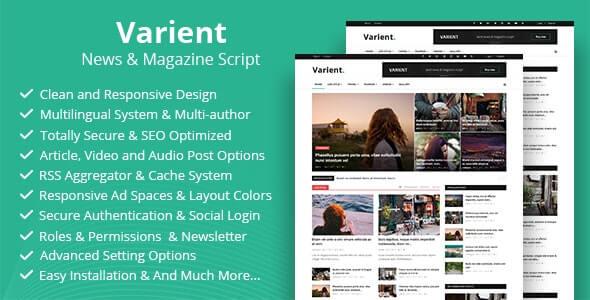 Varient 180 Nulled News Magazine Script