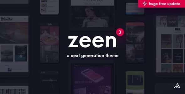 Zeen 3.9.6.1 - Next Generation Magazine WordPress Theme
