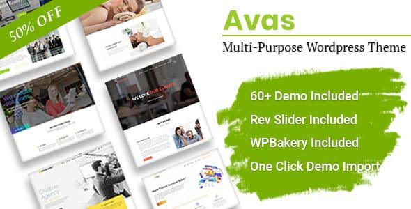 Avas 6114 Nulled Multi Purpose Elementor WordPress Theme