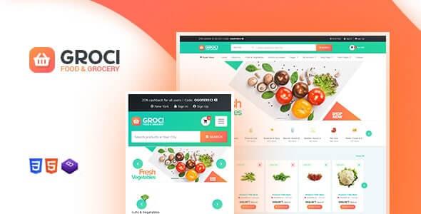 Groci 205 Organic Food and Grocery Market WordPress Theme