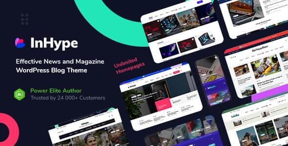 InHype 122 Nulled Blog Magazine WordPress Theme