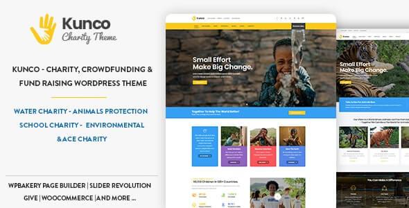 Kunco 110 Charity Fundraising WordPress Theme