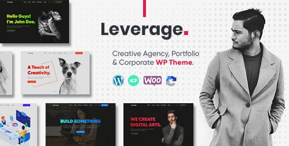 Leverage 201 Creative Agency Portfolio WordPress Theme