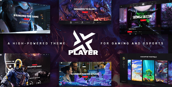 PlayerX 19 Nulled A High powered Theme for Gaming and