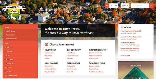 TownPress 360 Municipality WordPress Theme