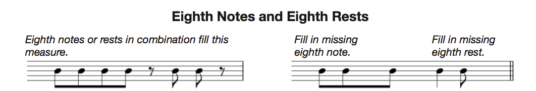 eighth notes and rests