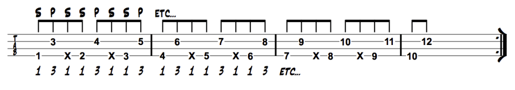 Thumb Octave Pluck Ghost Note
